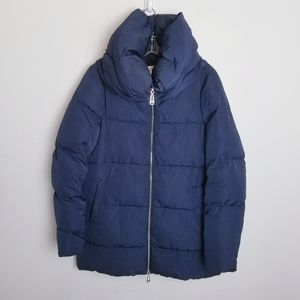 Zara Autumn winter puffer coats blue xs